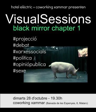 Cartell Visual Sessions 1 - Black Mirror octubre 2014